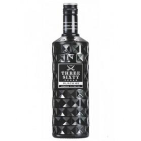 Three Sixty vodka black 42 - bottiglia da cl 70